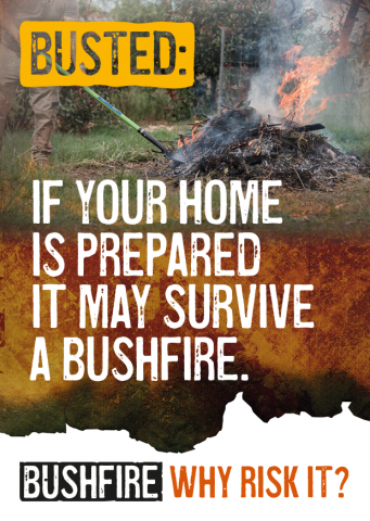 Busted: If your home is prepared it may survive a bushfire.