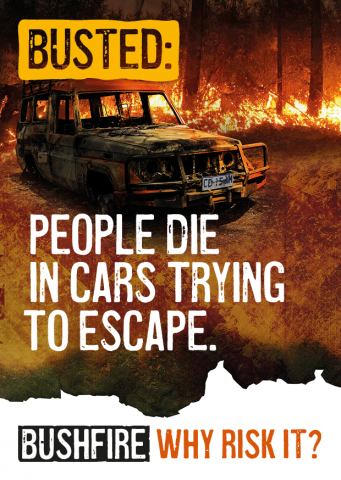 Busted: People die in cars trying to escape.
