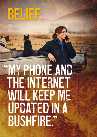 Belief: My phone and the internet will keep me updated in a bushfire.