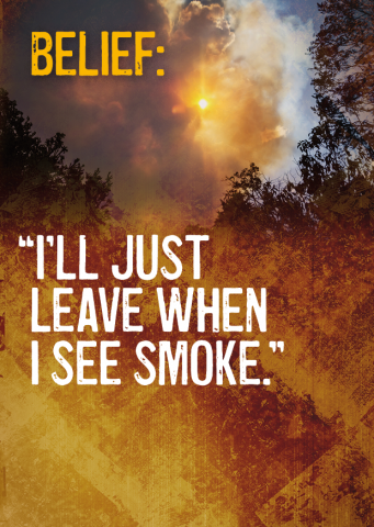 Belief: I'll just leave when I see smoke.